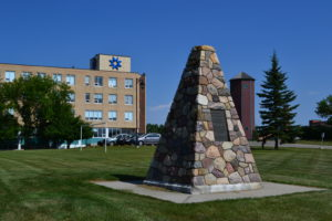 St.Mary's University Cairn dedicated to Father Albert Lacombe